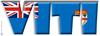Word Art Flag of Viti (Fiji) Large Coffee Mug