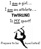 Twirling Athlete