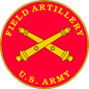 Field Artillery Plaque Oval Sticker