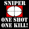 Sniper - One Shot - One Kill! Large Coffee Mug