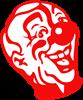 Clown Head Rectangle Sticker