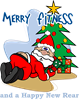 Merry Fitness Rectangle Sticker