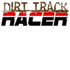 Dirt Track Racer Organic Men's Fitted T-Shirt (dar