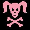 Curly Girlie Skull