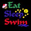 Eat, Sleep, Swim Women's Plus Size Scoop Neck T-Sh