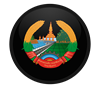 Coat of Arms of Laos Oval Sticker