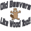 Old Beavers Like Wood Too! Women's Dark Pajamas