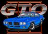 Blue Pontiac GTO can cooler