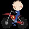 Motocross Racing Blue