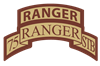 75th Ranger STB Scroll/Tab De