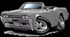 1966 Olds Cutlass Grey Convertible