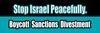 Israel Boycott Sanctions Divestment Bumper Sticker