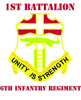 DUI - 1st Bn - 6th Infantry Regt with Text Rectang