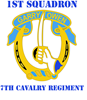 DUI - 1st Sqdrn - 7th Cavalry Regt with Text 2.25