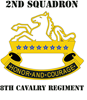 DUI - 2nd Sqdrn - 8th Cavalry Regt with Text