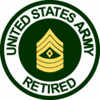 Army Retired<BR>First Sergeant