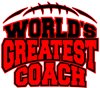 Red World's Greatest Coach Football Stackable Coffee Mug