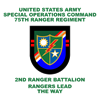 2nd Ranger Battalion Flash