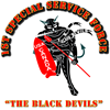 "SOF - 1st SSF - Black Devils 2.25"" Button (10"