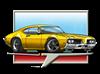 Gold 1969 Cutlass