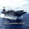 USS Constellation (CV 64) Ash Grey T-Shirt