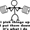 Stick Figure Body Builder