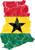 Ghana Flag And Map