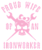 IRONWORKER WIFE LOGO pink