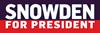 Snowden for Presdient Bumper Sticker