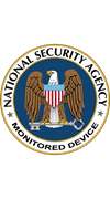 NSA Monitored Device Sticker
