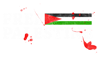 free palestine with flag and blood Zip Hoodie