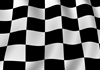 Black Racing Flag Checkerboard 5'x7'Area Rug