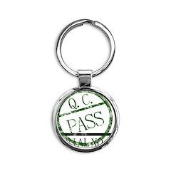 qcpassedtshirt_render copy Round Keychain