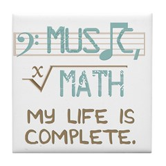 Math and Music Tile Coaster