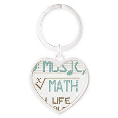 Math and Music Heart Keychain