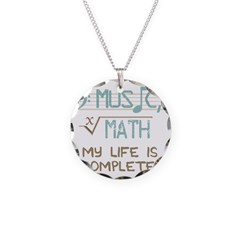 Math and Music Necklace Circle Charm