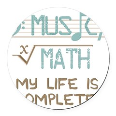Math and Music Round Car Magnet