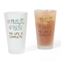 Math and Music Drinking Glass