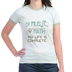 Math and Music Jr. Ringer T-Shirt