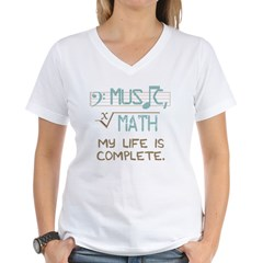 Math and Music Women's V-Neck T-Shirt