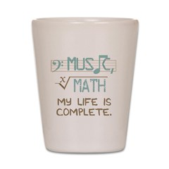 Math and Music Shot Glass