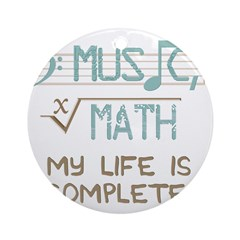 Math and Music Round Ornament