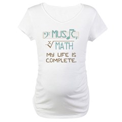Math and Music Maternity T-Shirt
