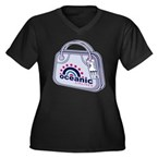 Oceanic02_10 Women's Plus Size Dark V-Neck T-Shirt