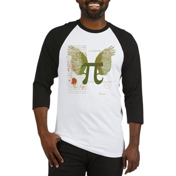 Winged Pi Baseball Jersey | Gifts For A Geek | Geek T-Shirts