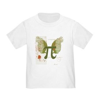 Winged Pi Toddler T-Shirt | Gifts For A Geek | Geek T-Shirts