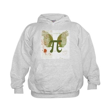Winged Pi Kids Hoodie | Gifts For A Geek | Geek T-Shirts
