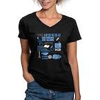 lost-quotes-forlights Women's V-Neck Dark T-Shirt
