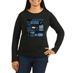 lost-quotes-forli Women's Long Sleeve Dark T-Shirt