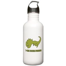 T-Rex Hates Pushups Water Bottle